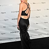 Amber Heard showed off her sexy black dress at the Metropolitan Opera gala in NYC.