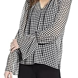Bailey 44 Cream Puff Gingham Top