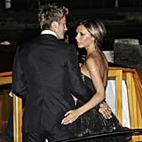 David and Victoria Beckham were spotted leaving their hotel on their way to a 2006 Film Festival event.