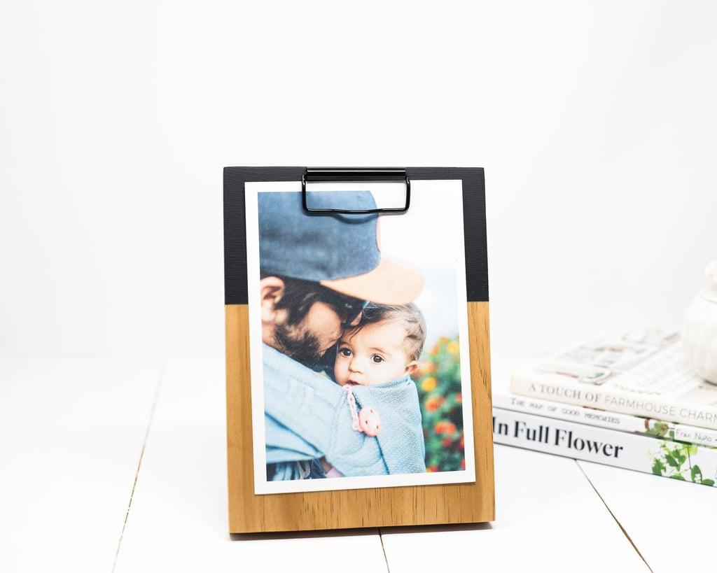 Wooden Clipboard Desktop Photo Display