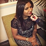 Mindy Kaling got ready for her appearance on The Daily Show. Source: Instagram user comedycentral