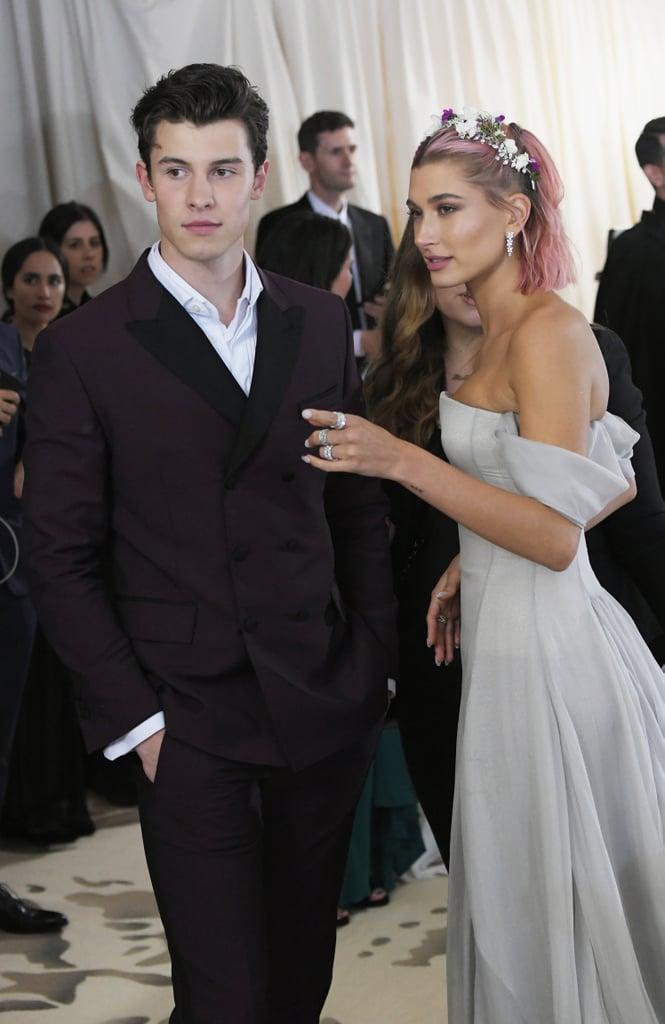 Hailey Baldwin and Shawn Mendes at the 2018 Met Gala