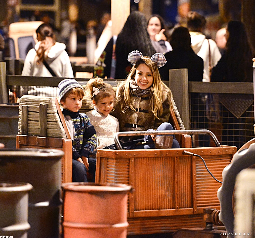 Jessica Alba and Cash Warren took their daughters to Disneyland for two days of fun on Sunday and Monday. The family of four visited the main park and California Adventure, where they checked out multiple rides and games. Jessica and Cash rode Space Mountain and the group also hopped on Pirates of the Caribbean and Indiana Jones, and posed with a holiday-themed Mickey Mouse. Their trip to the Happiest Place on Earth came during a break from Cash's work on his latest producing project, In the Blood, which he's been filming with Cam Gigandet since last week.  The Alba-Warrens are staying busy as the year comes to a close, but they still have time to make a mark in our Best of 2012 coverage. Make sure to vote if they happen to be your favorite celebrity family, or if you think Jessica had the best bikini moment of the last 12 months.