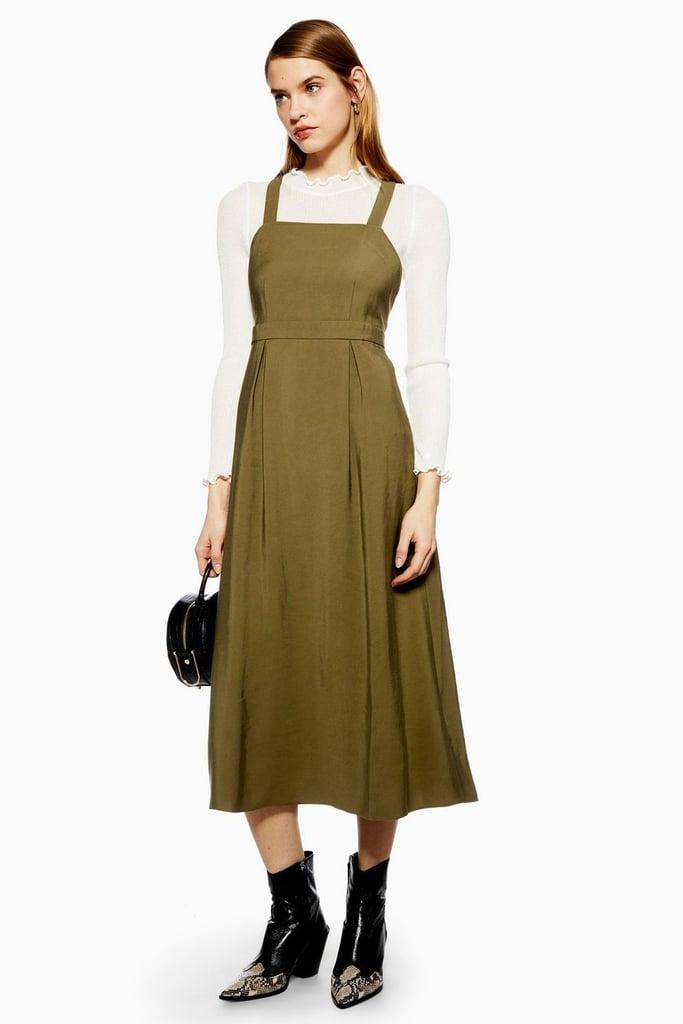 Midi Pinafore Slip Dress