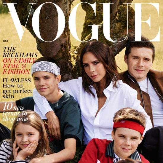 Victoria Beckham and Family British Vogue Cover Oct 2018
