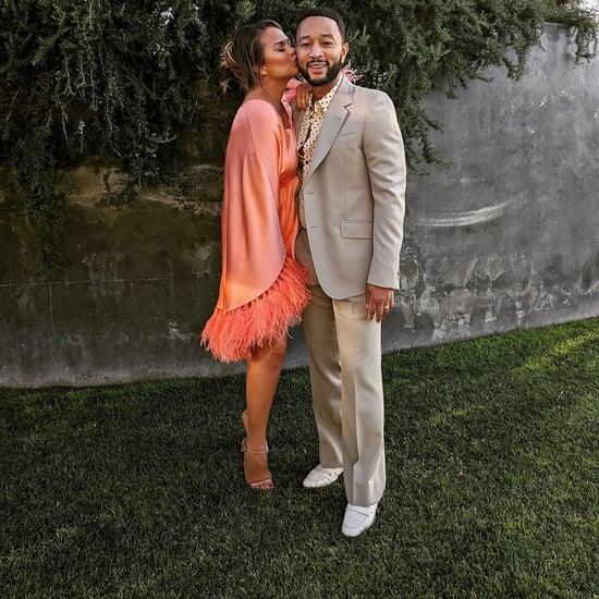 Chrissy Teigen's Silk Dress on Father's Day With John Legend