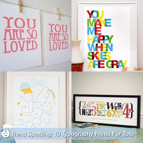 Typography Wall Decor For Nursery | POPSUGAR Moms