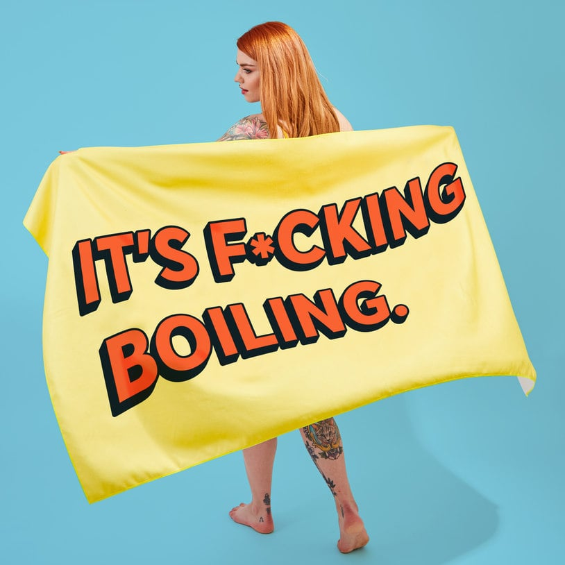Swear Word Beach Towels