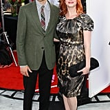 Christina Hendricks brought her husband, Geoffrey Arend, to the Iris premiere.