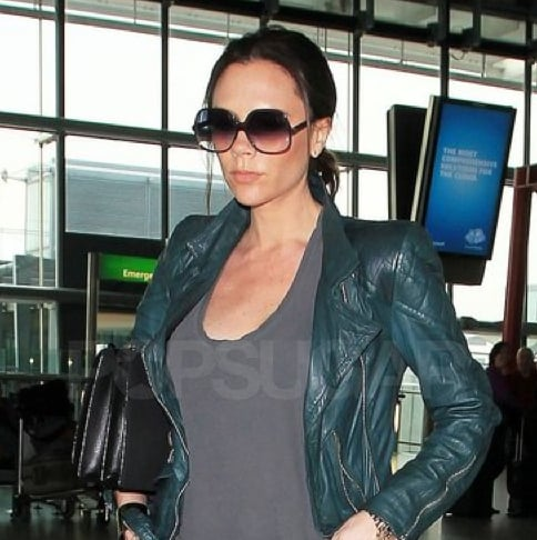 Pictures of Pregnant Victoria Beckham Departing Out of Heathrow Airport With News She's Having a Girl