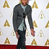 Pharrell Williams and his hat walked the red carpet.