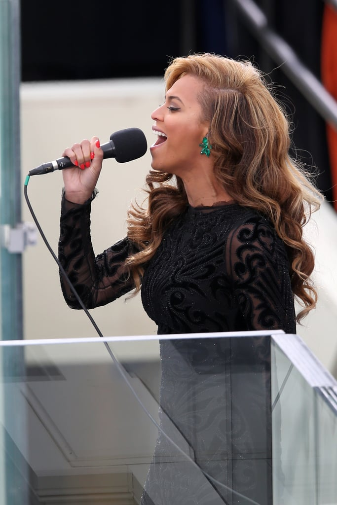 Beyoncé Knowles wore Lorraine Schwartz jewels at the presidential inauguration.