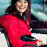 Pippa Middleton laughed at lunch.
