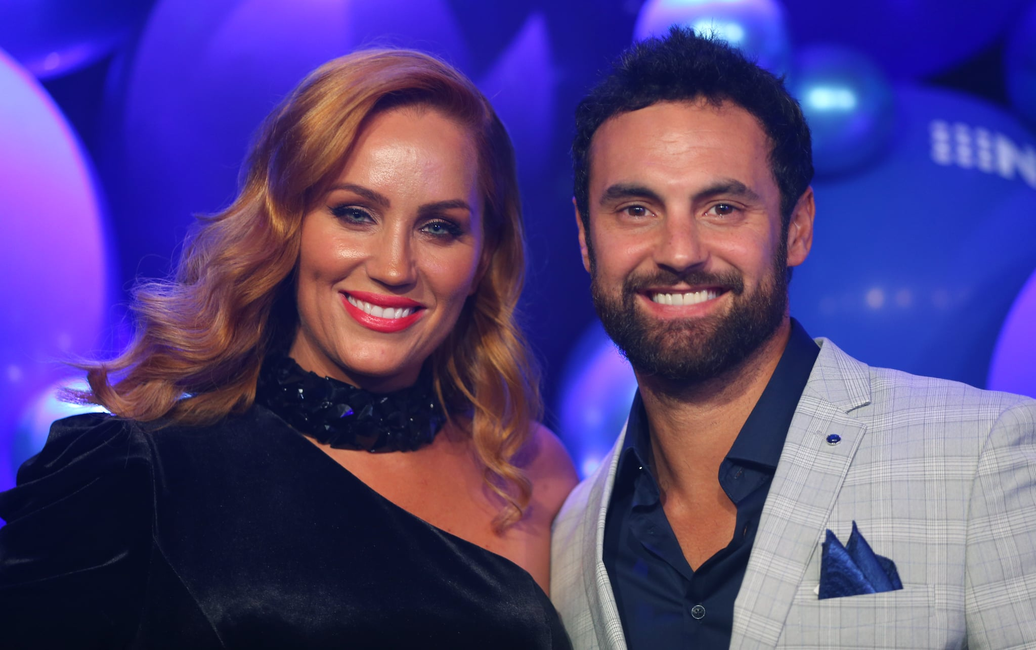 SYDNEY, AUSTRALIA - OCTOBER 16: Jules Robinson and Cameron Merchant attends the Nine 2020 Upfronts on October 16, 2019 in Sydney, Australia. (Photo by Don Arnold/WireImage)