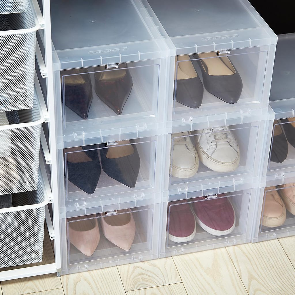 The Perfect Shoe Boxes: Small Drop-Front Shoe Box Case of 6