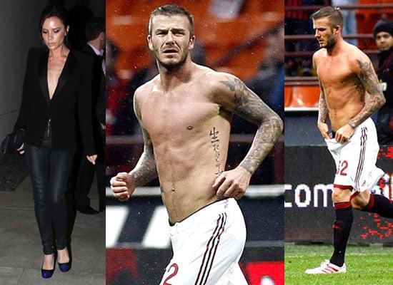 Photos of David Beckham Shirtless and Victoria Beckham