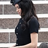 Meghan Markle's Philip Treacy Hat and Half-Up Hair, 2018