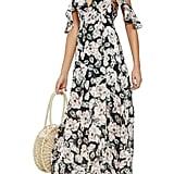 4c0cf29716a9 ... Topshop Devoré Floral Cold-Shoulder Dress · Lou & Grey Garment Dye Maxi  Tee Dress · Alice + Olivia Jenny Flutter-Sleeve ...