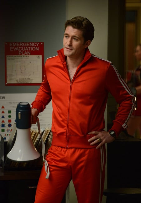 Mr. Schuester gets to act like his nemesis, Sue Sylvester. Photo courtesy of Fox