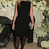 Moss went for a classic boat-neck LBD for the British Vogue and Tiffany & Co. Fashion and Film Party held at Annabel's.