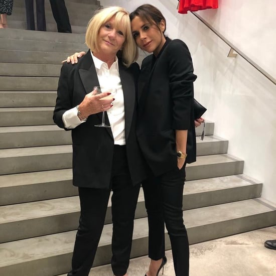 Victoria Beckham Matching With Her Mom in Black Pantsuit