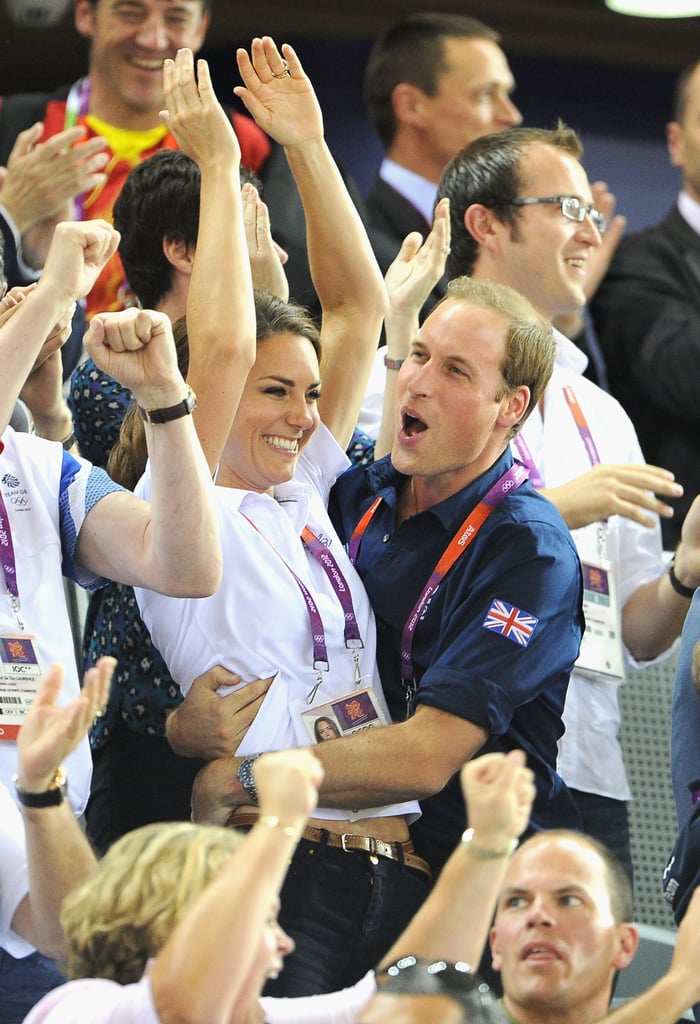 The Duke and Duchess of Cambridge share a history of playing sports — Kate played tennis and swam at St Andrews while William was on a rugby team and still competes in charity polo matches — so it's no surprise that they both enjoy watching sporting events as well. The couple have popped up smiling at Wimbledon multiple times over the years, got cute courtside at an NBA game in 2014, and showed celebratory PDA during the London Olympics in 2012. It seems Will and Kate are quite comfortable sharing sweet moments and trading loving glances when they're in the stands. Scroll through for 19 of their best!