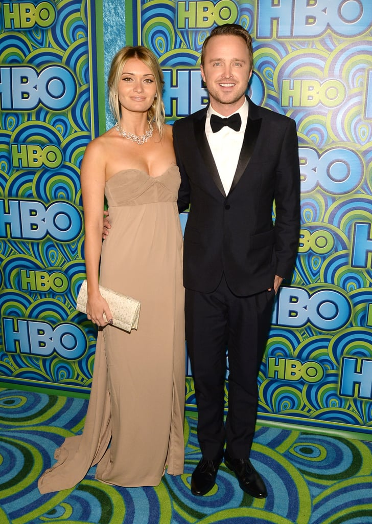 Aaron Paul and Lauren Paul posed at the HBO afterparty.