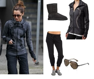 Ashley Tisdale Wears Lululemon, Ray-Bans, and Uggs After the Gym