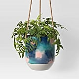 Opalhouse Multi Paint Dripped Floral Oval Planter