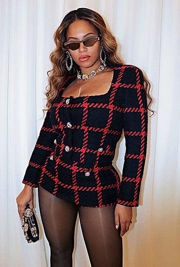 Beyoncé Wears Alessandra Rich Tweed Set For Her Anniversary