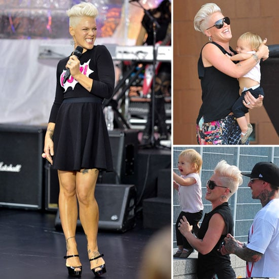 Pink With Her Family in NYC | Pictures