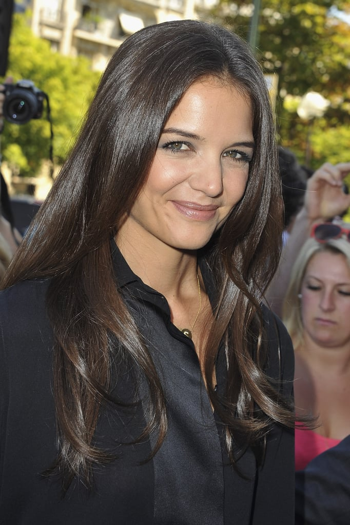 Katie Holmes looks pretty in Paris.