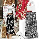 Carrie Bradshaw's Mixed Print Look