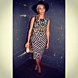 Beyoncé showed her love for Topshop with this cool printed look. Source: Instagram user beyonce