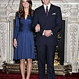Who can forget the iconic midnight blue Issa dress Kate wore to announce her engagement?