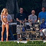 Michael Bay and his crew sat back and let Candice strut her stuff.