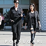 Kris Jenner and Kourtney Kardashian ran errands in LA while filming their reality show, Keeping Up With the Kardashians, on Monday.