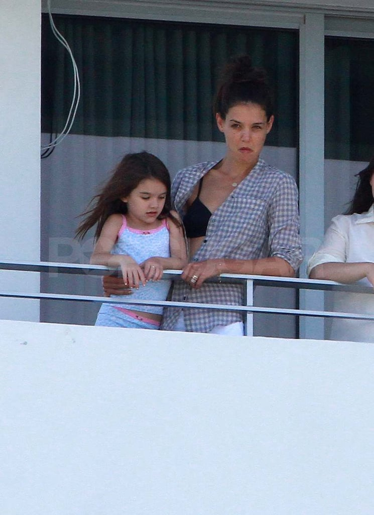 Kate Homes and Suri in Miami.