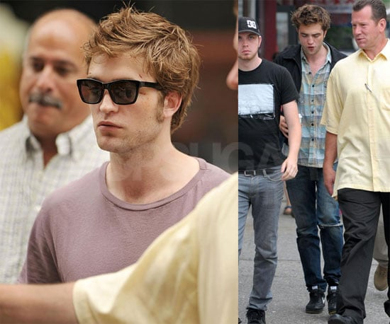 Photos of Robert Pattinson, Emilie de Ravin, Chris Cooper on the Set of Remember Me in NYC
