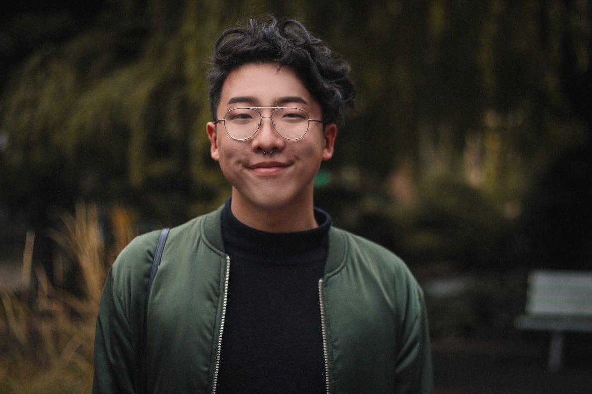 Joon Park, trans/non-binary student activist.
