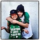 Sarah Hyland and her boyfriend Matt Prokop got festive in 2013.  Source: Instagram user therealsarahhyland