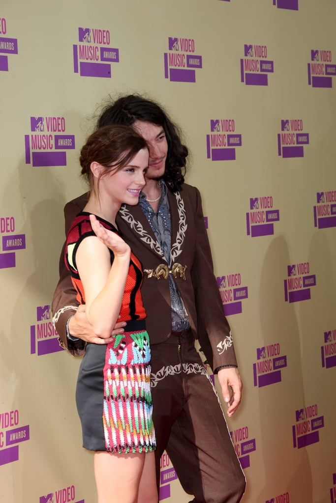 Emma Watson and Ezra Miller posed together at the VMAs.