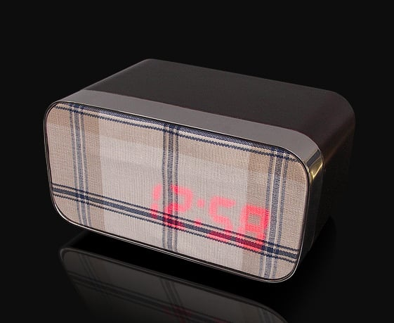 Alarm Clock With Changeable Fabric Front - Genius!
