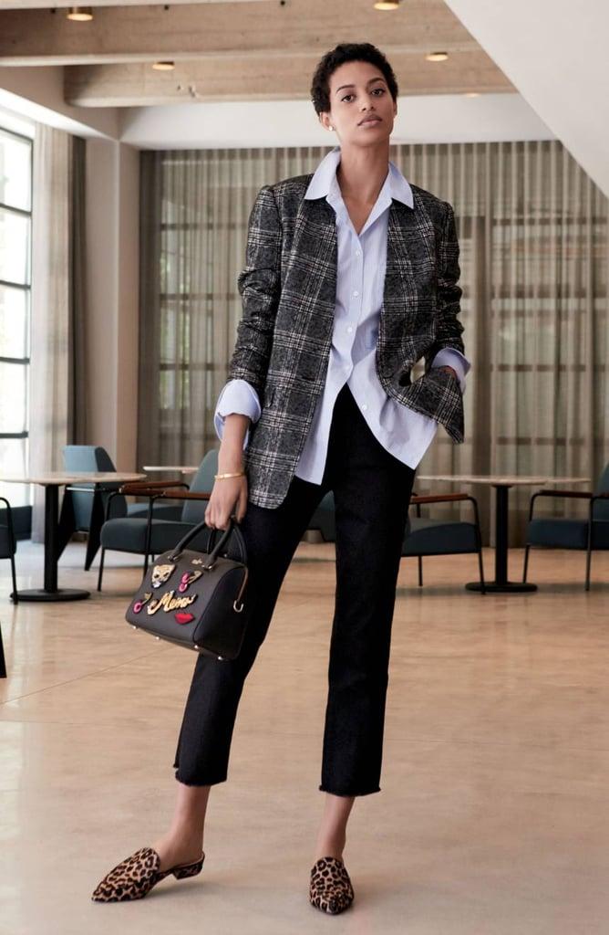 Petite Women's Halogen Glen Plaid Jacket