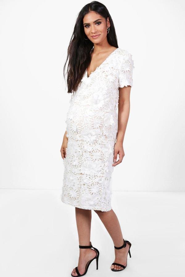 0f3fec8dbe30d Boohoo Maternity Freya Floral Applique Midi Dress | Cute Maternity ...