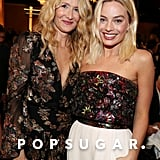 Laura Dern and Margot Robbie at the 2020 Golden Globes