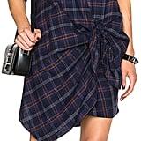 Thakoon Addition Thakoon Flannel Side Tie Dress ($490)