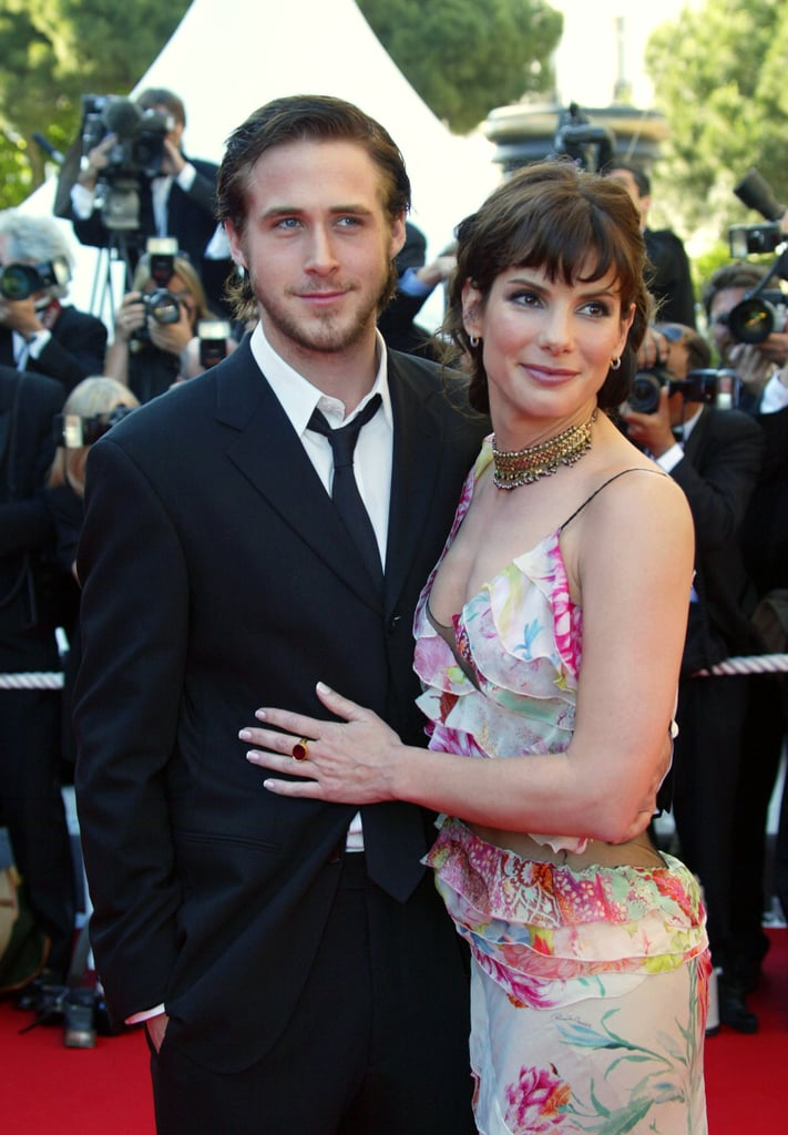 Sandra Bullock posed for photographs with former flame Ryan Gosling at the May 2002 Cannes Film Festival premiere of Murder by Numbers.