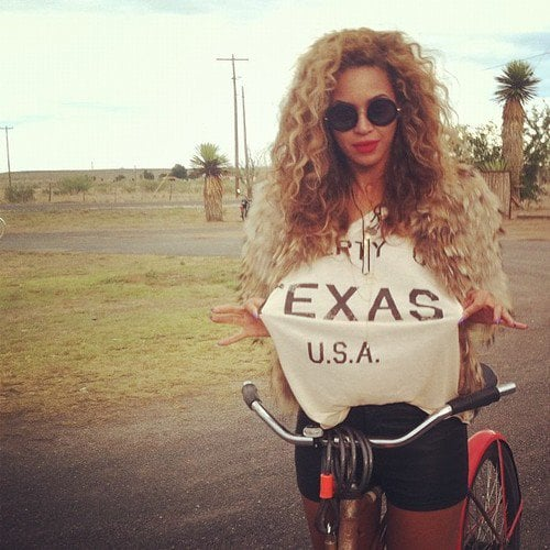 Beyoncé Knowles showed off her Texas pride. Source: Instagram user mydamnstagrams