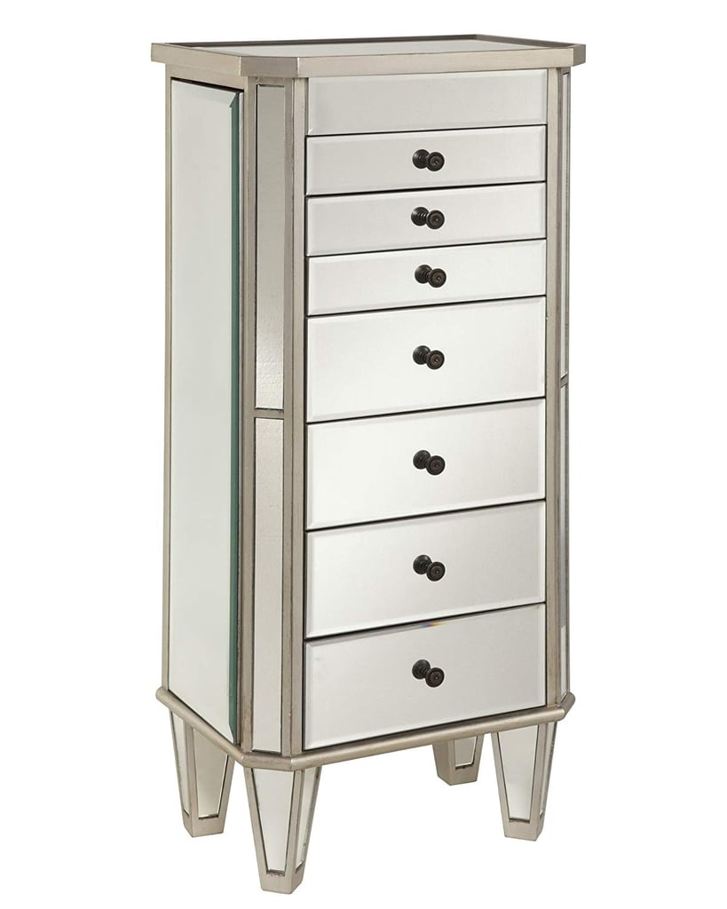 Powell Jewelry Armoire Wood, Silver Mirrored | Best ...